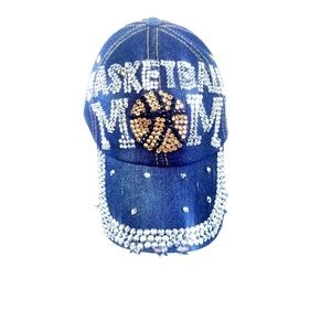 Basketball Mom Blinged Out Dazzle Trucker Hat